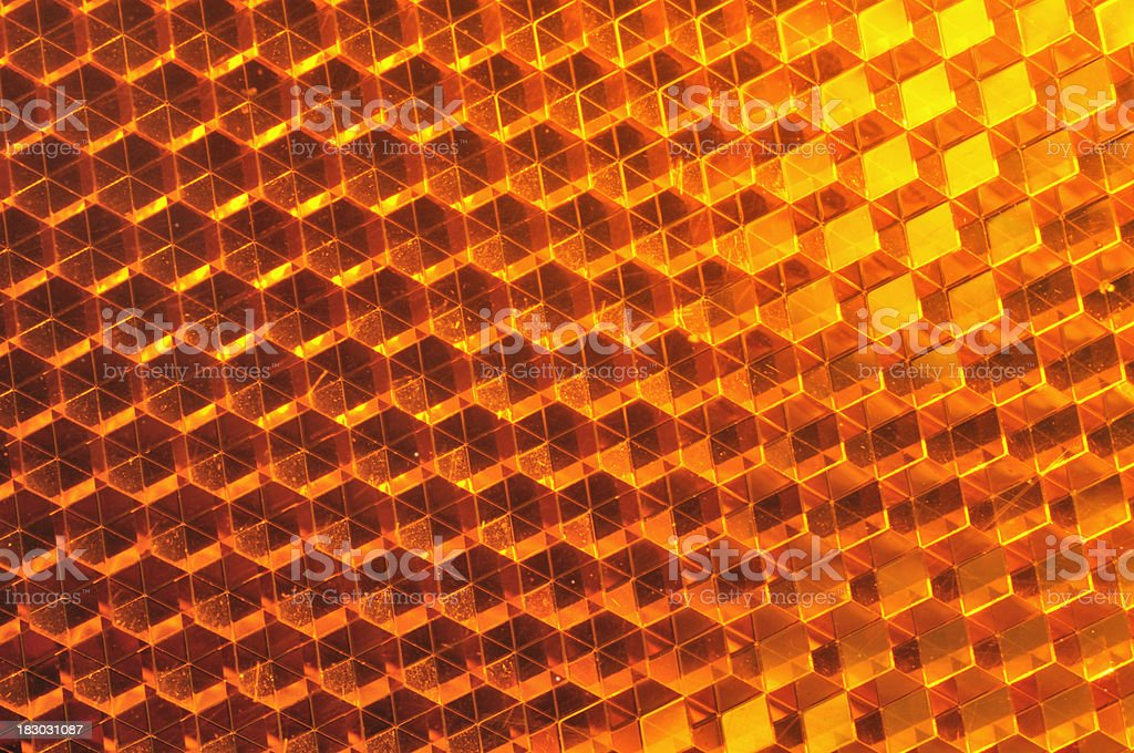 Orange reflections stock photo