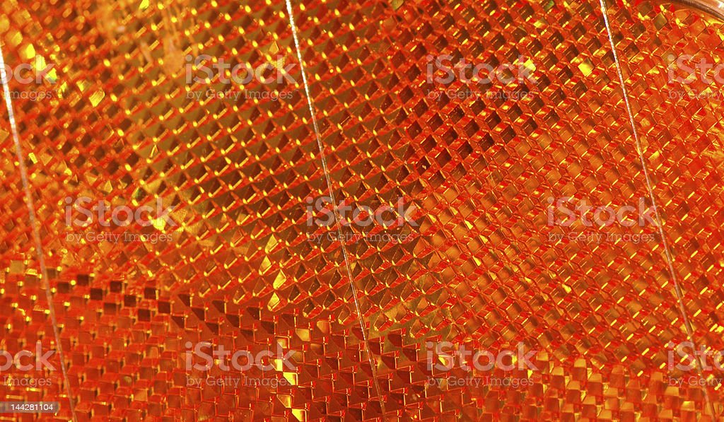 Orange reflector royalty-free stock photo