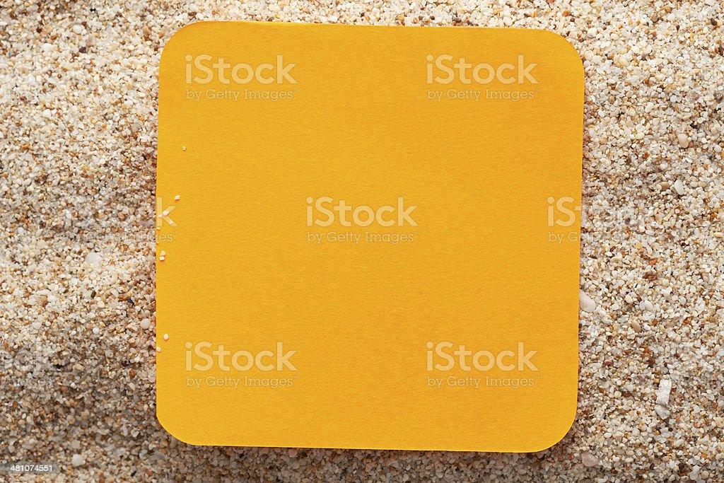 Orange reminder stock photo