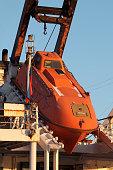 orange rescue boat slide