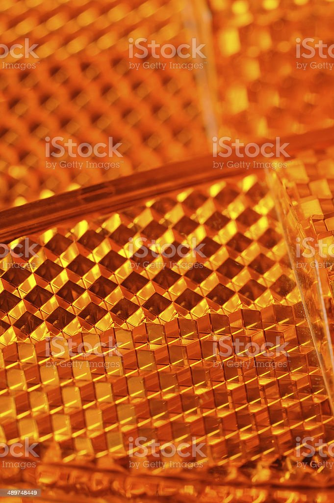 Orange Retroreflectors Macro royalty-free stock photo