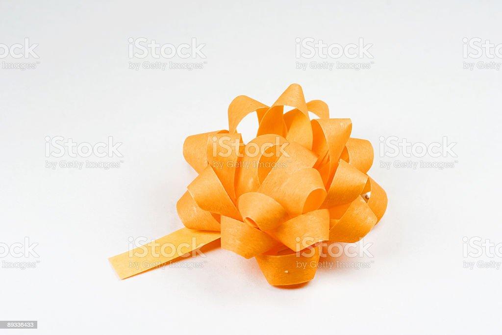 orange ribbon on white background royalty-free stock photo