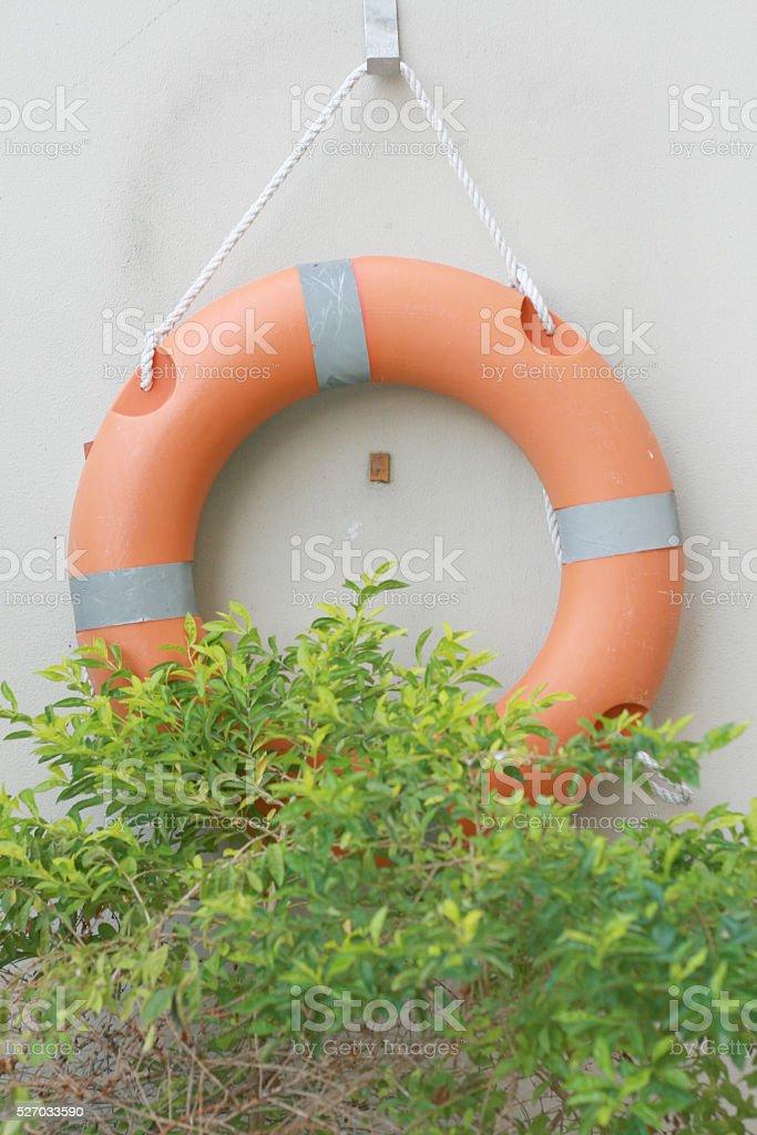 Orange ring buoy stock photo