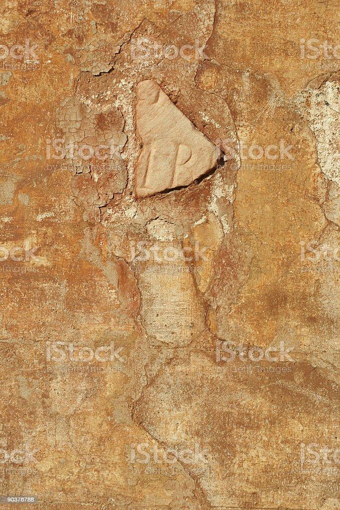 Orange roman wall royalty-free stock photo