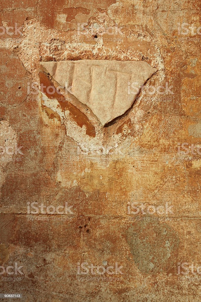 Orange roman wall royalty-free stock photo