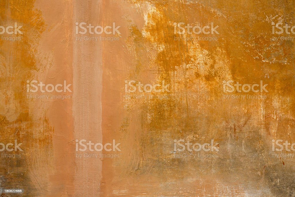 Orange Roman wall texture background, Rome Italy royalty-free stock photo