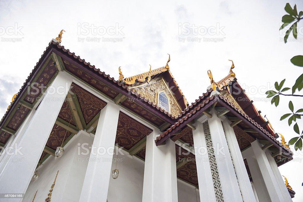 Оранжевый плитки на крыше в Храм Стоковые фото Стоковая фотография