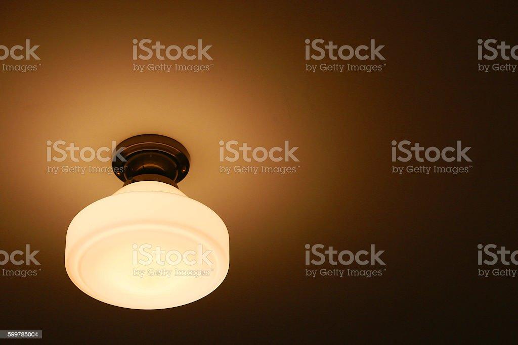 Orange room light foto de stock libre de derechos