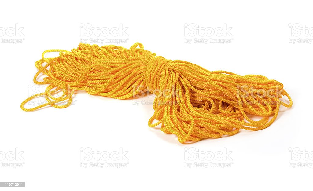 Orange rope stock photo
