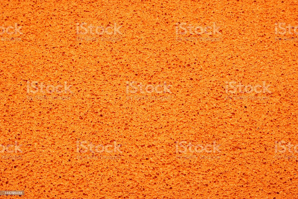 Orange rubber foam texture stock photo