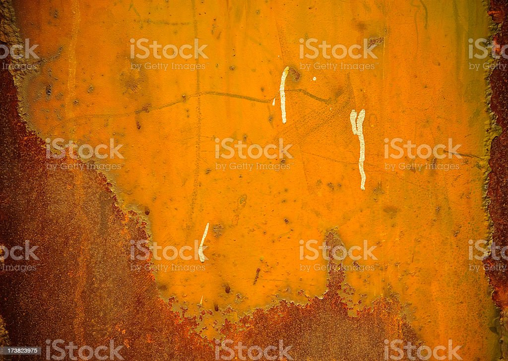 Orange rust surface royalty-free stock photo