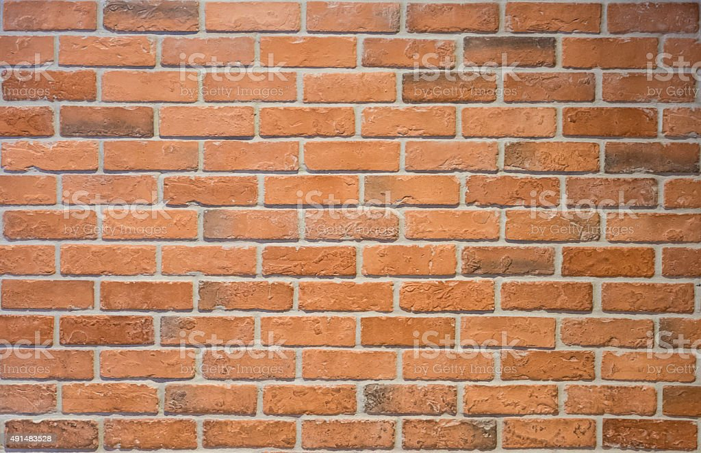 Orange Rustic Brick Background stock photo
