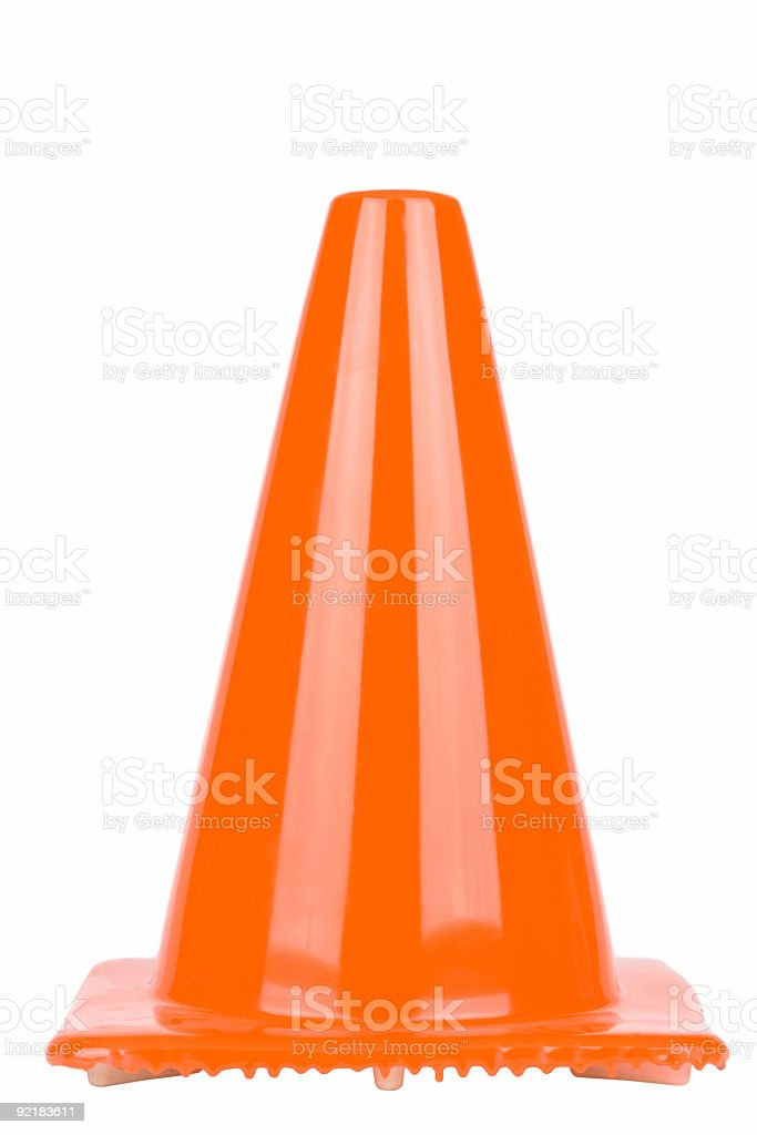 Orange Safety Cone royalty-free stock photo