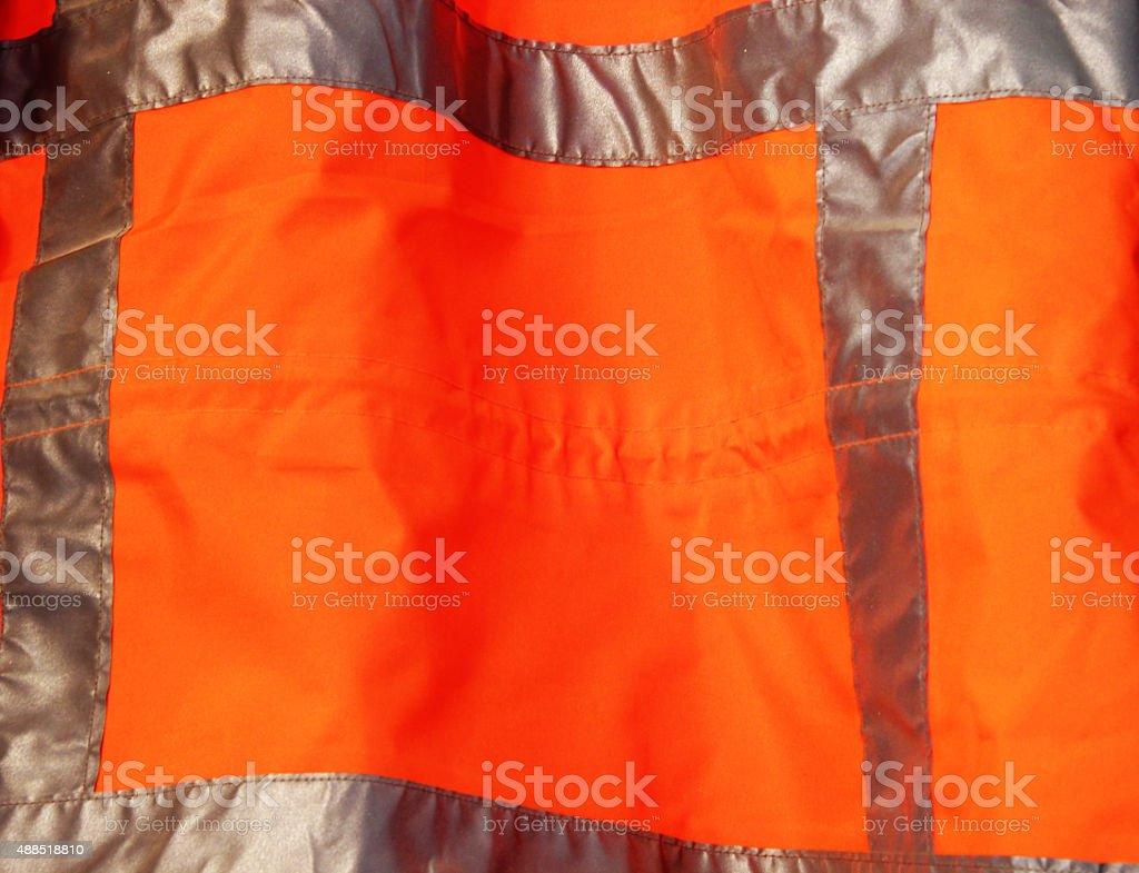 orange safety vest stock photo