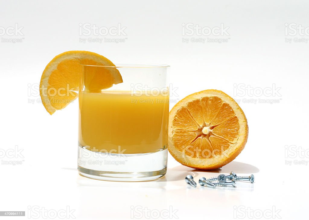 Orange Screwdriver royalty-free stock photo