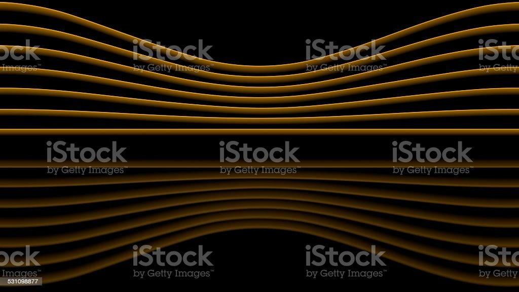 Orange sinewaves stock photo