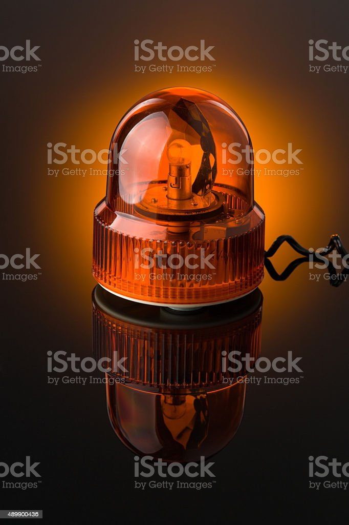 orange siren stock photo