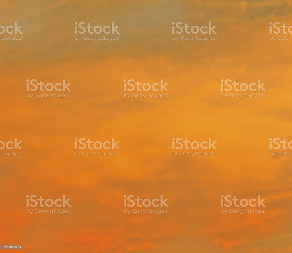 Orange sky royalty-free stock photo