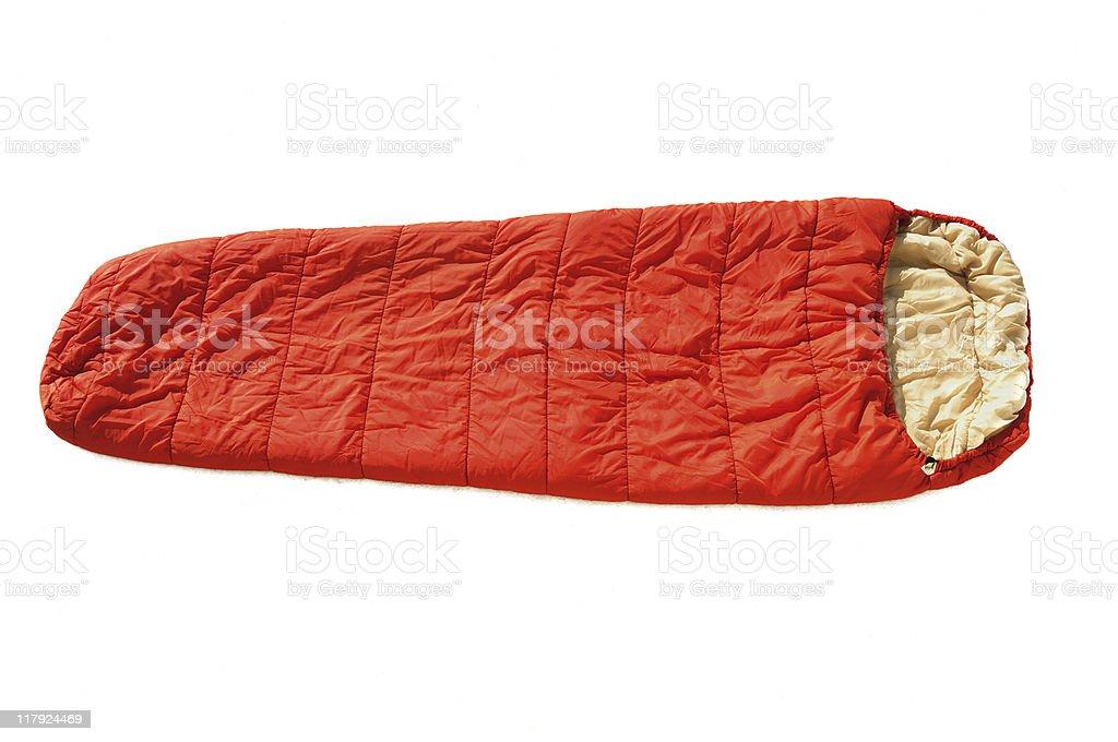 Orange Sleeping Bag stock photo