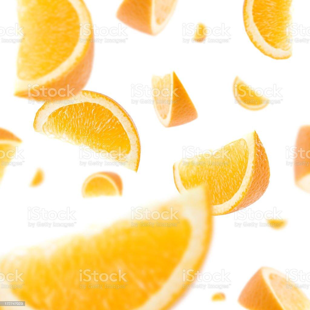 Orange Slice Explosion stock photo