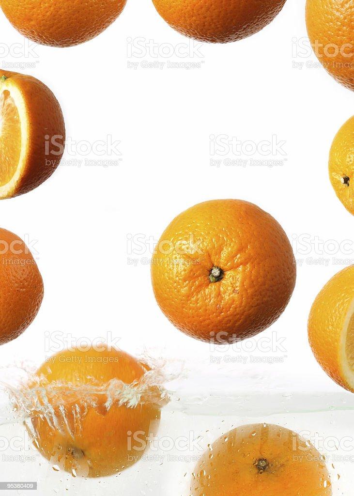 orange slice on a white background stock photo