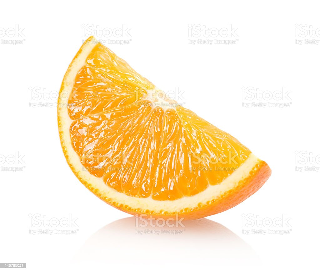 orange slice stock photo