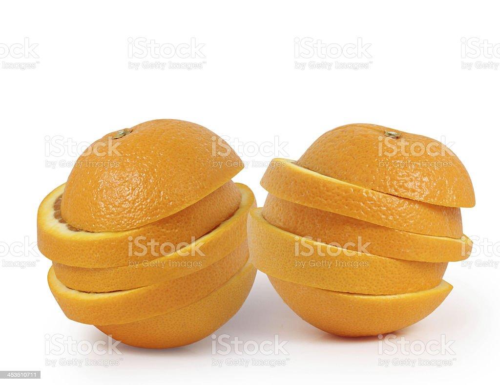 orange slices juice concept isolated royalty-free stock photo