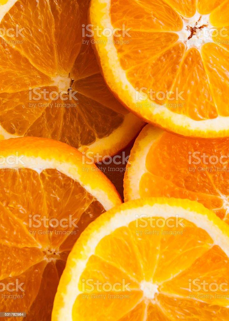 Tranches d'Orange photo libre de droits