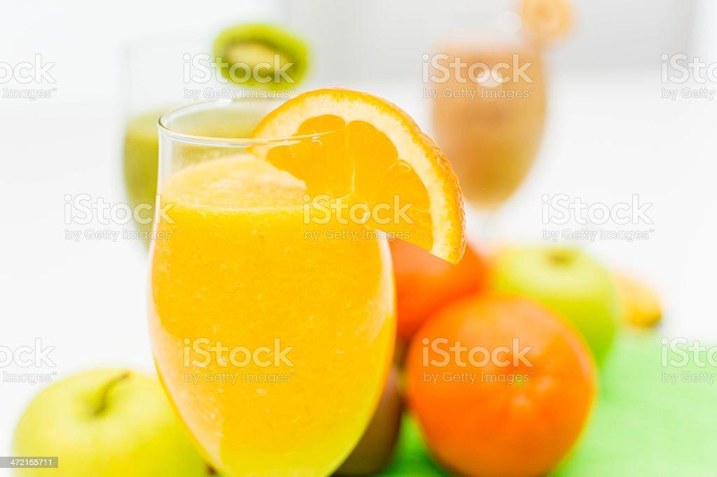 Orange smoothie royalty-free stock photo