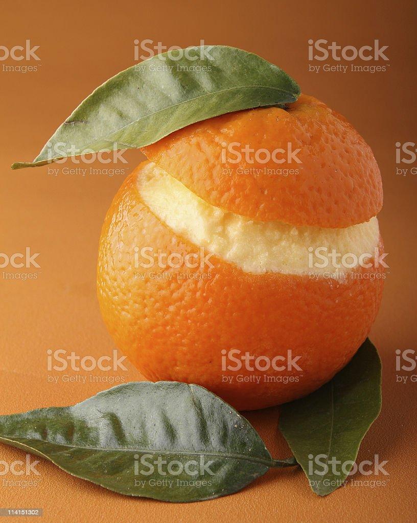 orange sorbet stock photo