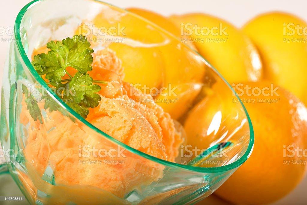 Orange Sorbet Sherbert stock photo
