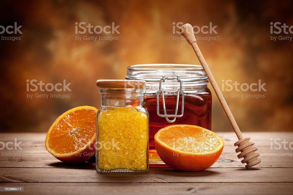 Orange Spa - fresh minerals for Aromatherapy royalty-free stock photo