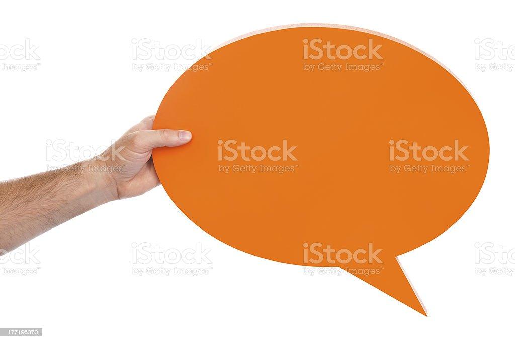 Orange Speech Bubble royalty-free stock photo