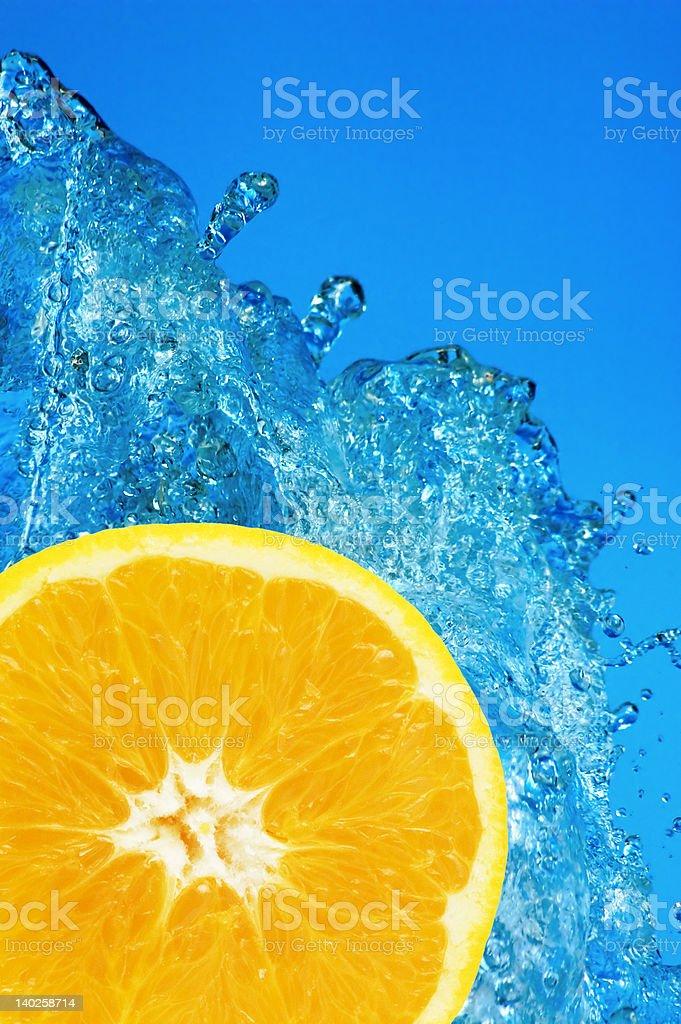 orange splash royalty-free stock photo