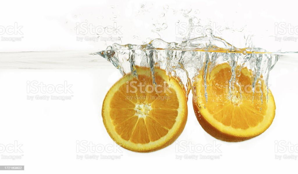 Orange Splash royalty-free stock photo