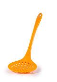 orange spoon strainer