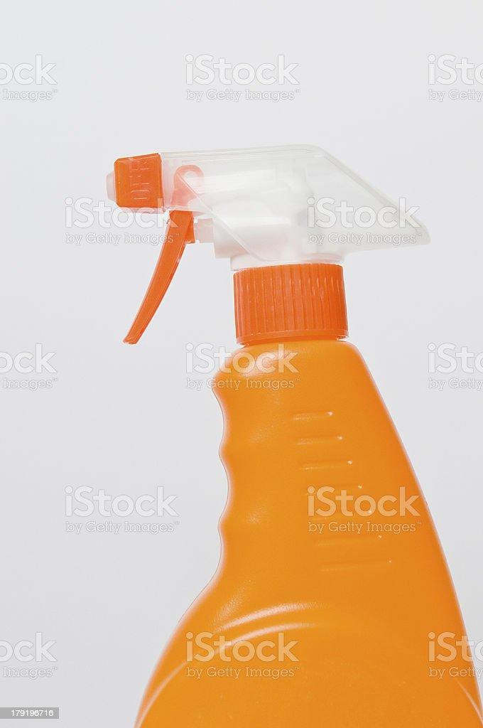 Orange Spray Bottle royalty-free stock photo