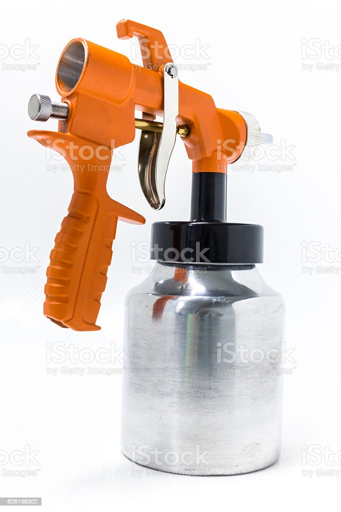 Orange Spray Gun royalty-free stock photo