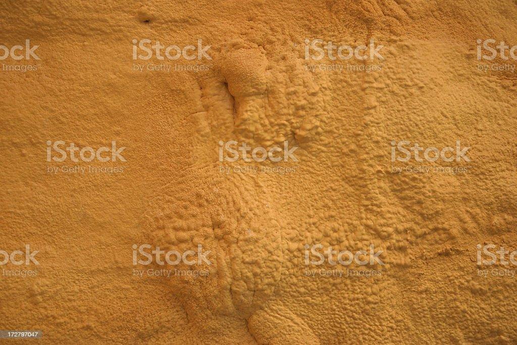 Orange Sprayed Foam stock photo