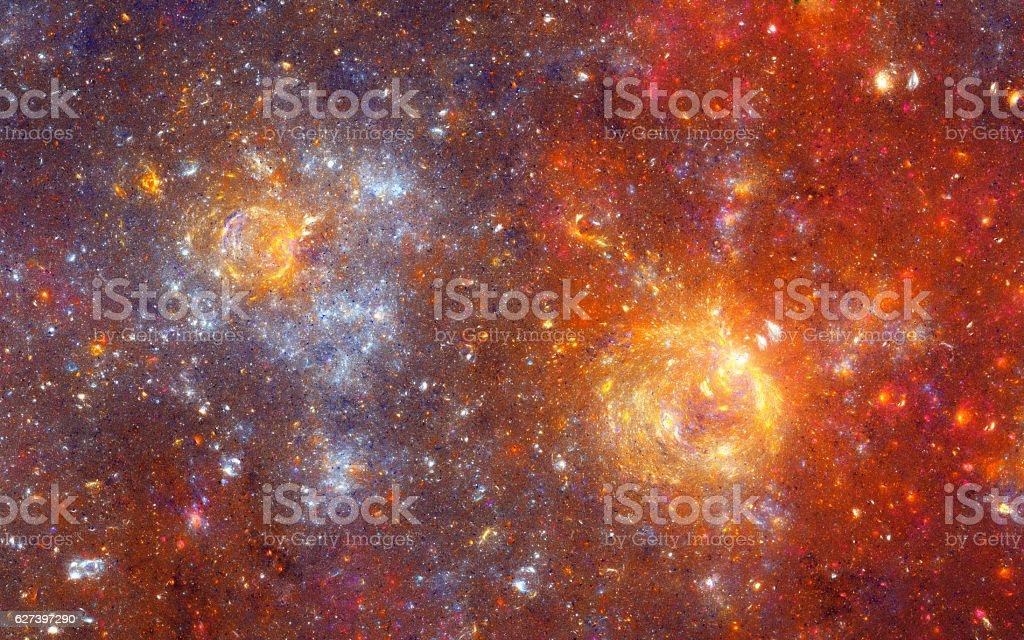 Orange stars stock photo