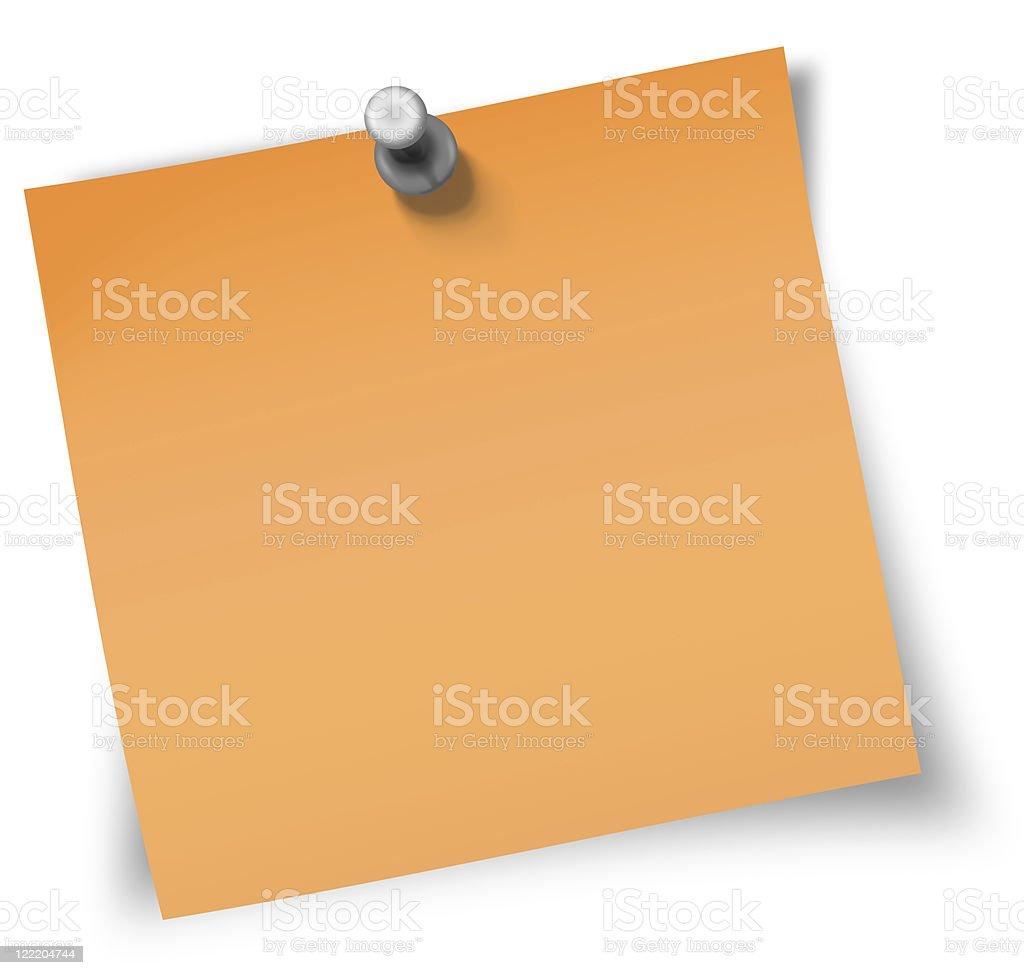 orange sticky note royalty-free stock photo