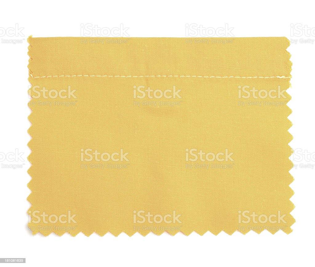 Orange Stitched Fabric Swatch royalty-free stock photo