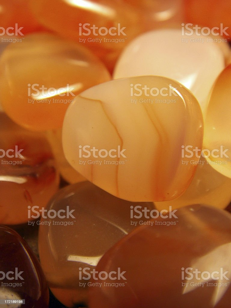 Orange Stones stock photo