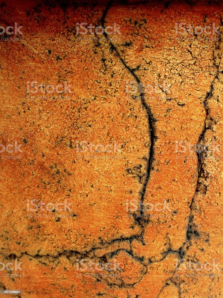 Orange stucco background stock photo