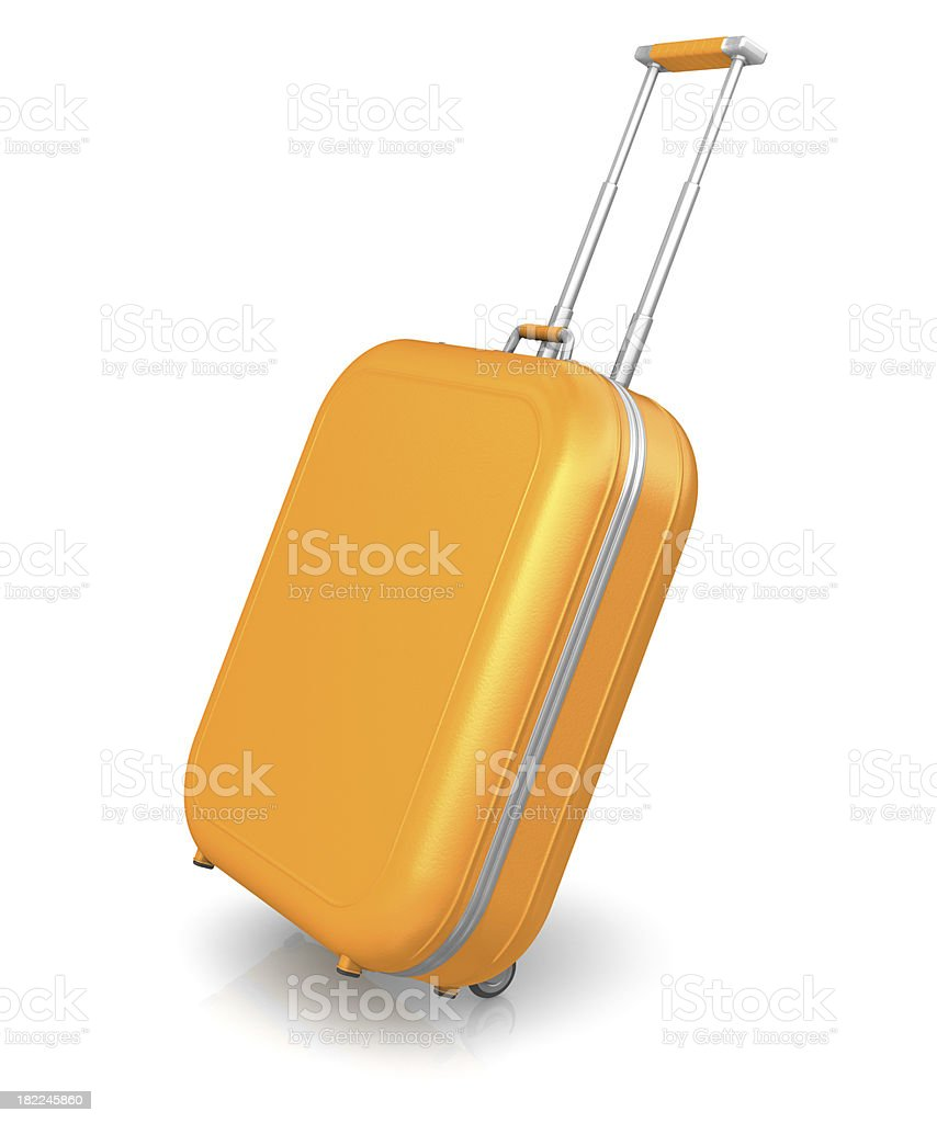 Orange suitcase royalty-free stock photo