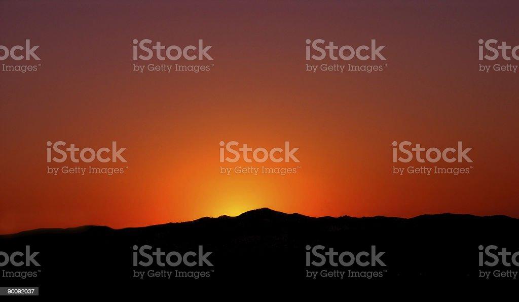 Orange Sun Landscape royalty-free stock photo