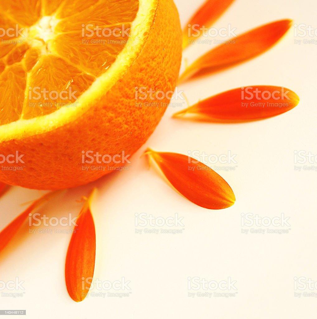 orange sun royalty-free stock photo