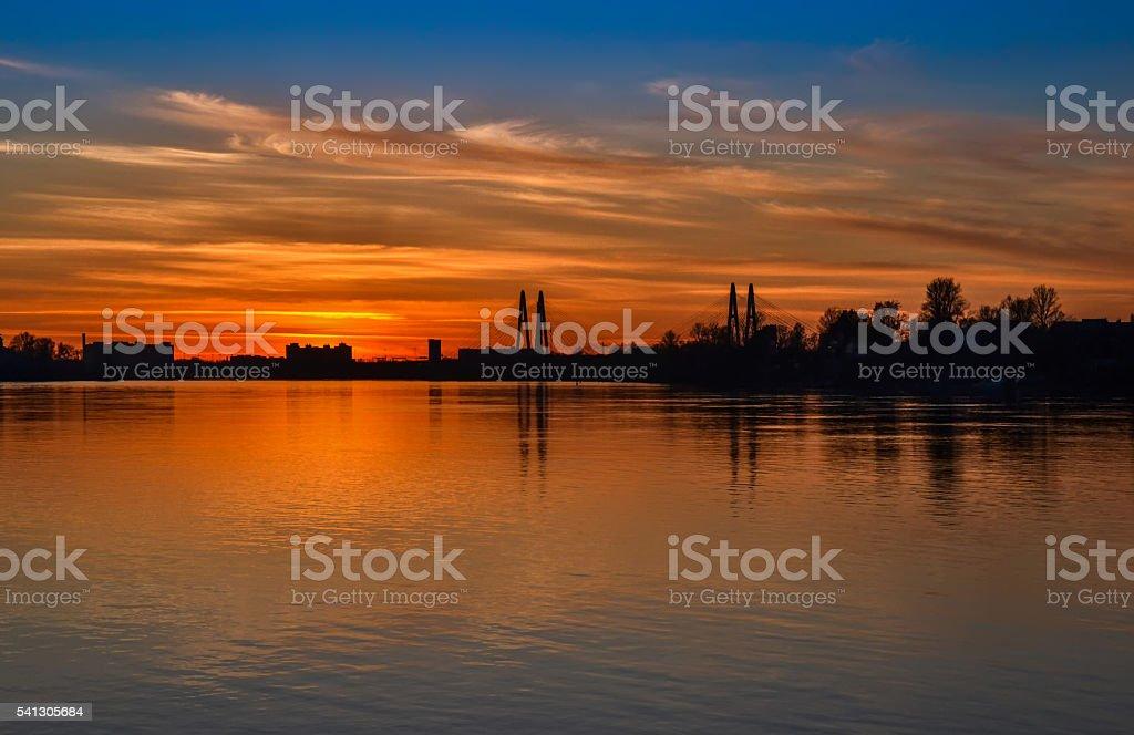 Orange sunset stock photo