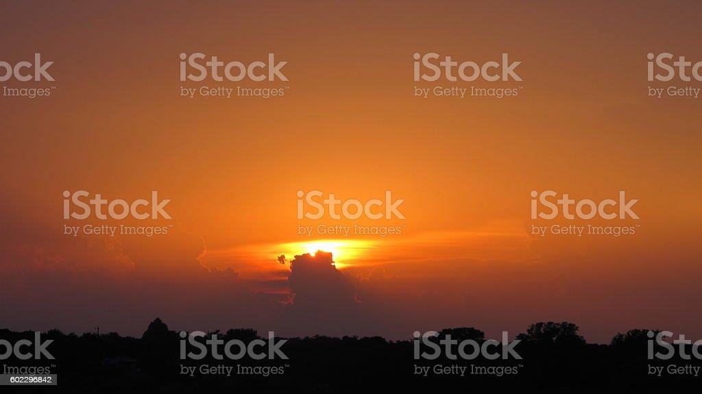 Orange coucher de soleil  photo libre de droits