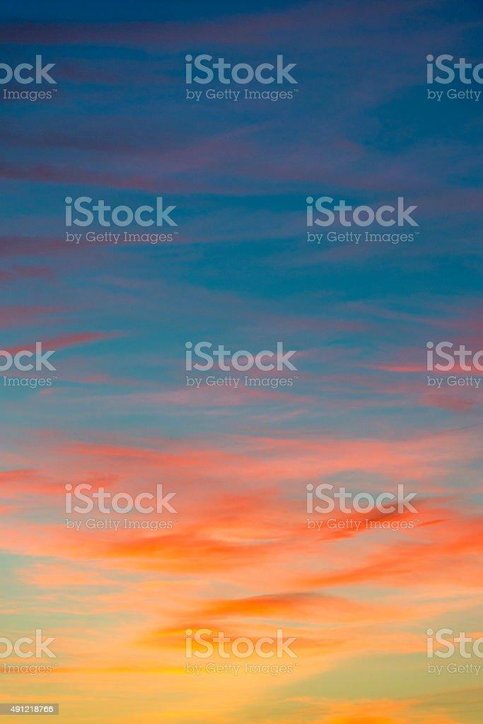 orange sunset sky  Beautiful sky stock photo